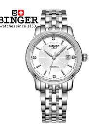 Wholesale Logo Geneva - Geneva Binger Men Sport White Gold Classic Round 38mm Big Dial Steel Strap Word Automatic Limit Edition Bell Watch Man Logo Wrist Watches