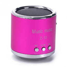 Wholesale Wholesale Cheap Mini Speakers - Wholesale- New Cheap FM Portable Speaker Z12 Mini Subwoofer Music Column Speakers Support USB Micro SD TF Card Mp3 4 For iphone Laptop PC