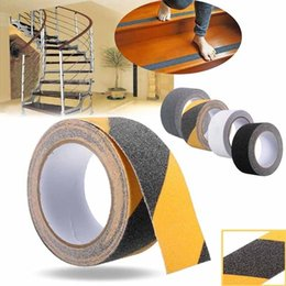 Wholesale Stickers Stairs - Wholesale-5cmx5m Waterproof Roll Anti Slip Adhesive Stickers Safety Non Skid Grip Tape For Stair Floor Bathroom Kitchen
