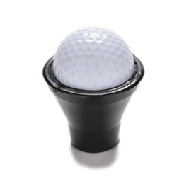Wholesale Golf Retriever - Wholesale- 1Pcs New Black Golf Putter Sucker Finger Ball Retriever Pick up Training Aids Golf Training Accessories