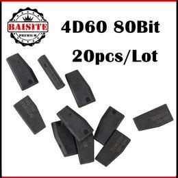 Wholesale Citroen C Key - Wholesale Price!!! 20pcs lot Car key chip 4D60 transponder chip for Ford car key 4d60 id4d 60 transponder c-hip in stock
