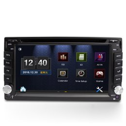Wholesale Touch Screen Tv Radios - universal 2 two Din 6.2inch Car DVD player with GPS navigation(optional),car head unit audio Radio stereo,USB SD,Bluetooth TV,touch screen