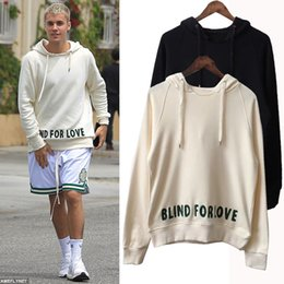 Wholesale Hooded Tops For Women - Europe America Fashion Italy Justin Bieber Donald Duck Casual Cool blind for love Slogan Hoodie men women Luxury Hooded Sweatshirt Tops