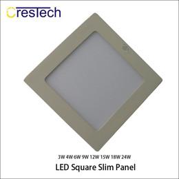 Wholesale Edge Led Lights - New Style Ultra-Narrow Edge Led Recessed Panel Light Round and Square LED Ceiling Lights Aluminum Downlight AC85-265V