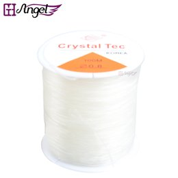 Wholesale Crystal Stretch Cord - GH Angel 10pcs 100m Elastic Stretch Thread Crystal String Bead Transperent Cord DIY Jewelry Thread for Hair Extension Hair Tools
