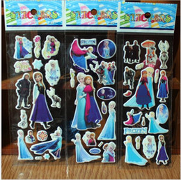 Wholesale Elsa Poster - Elsa Frozen Wall Stickers Olaf Decoration Princess Decorative Wall Decall for Kids Rooms Poster Switch Stickers Pape Art