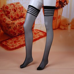 Wholesale Nude Sexy Lingerie - Wholesale- Lingerie Socks Sexy Womens Lace Pantyhose Sock Up Thigh High Over the Knee Socks Long Stockings Nightclubs Black Nude Stockings