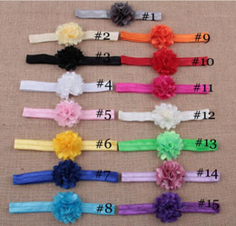 Wholesale Satin Flowers For Hair Bands - Satin Flower Headbands Baby Mesh Hollow Out Elastic Hair Band for Kids Newborn Hair Accessories YH539