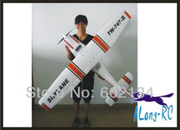 Wholesale Rc Airplane Epo - Wholesale- EPO plane  RC airplane RC MODEL HOBBY TOY HOT SELL BEGINNER plane 4 channel plane  1560mm CESSNA182 TW747-3 (PNP set)