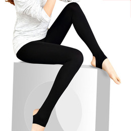 Wholesale Girls Shiny Spandex - Wholesale- Glossy shiny black women leggings step on the foot girls leggings ankle length black pants high elastic casual trousers 3061-