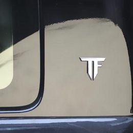 Wholesale Metal Sports Decals - TF auto car 3D emblem chrome sticker decal badge Transformers metal new sport racing drift motorsport street racing car-styling