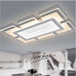 Lámparas led de ciudad online-Sky City Acrílico ultrafino Modernas luces de techo led para sala de estar dormitorio Sala de estudio Inicio Dec Lámpara de techo Led
