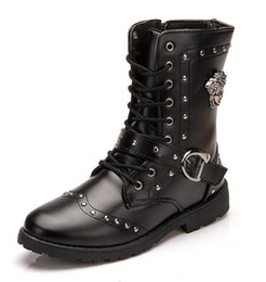 Wholesale Man S High Boots - Men 's Boots Fashion Martin Boots Men' s Boots High Help Army Boots Free Shipping