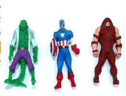 Wholesale Superheroes Toys For Boys - 10pcs Marvel Avengers Superheroes Manga Miniatures PVC Action Figures Spiderman Anime Figure Figurines Kids Toys For Boys Girls