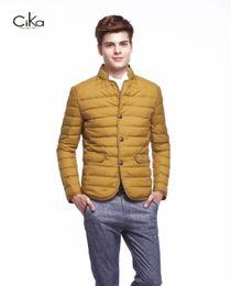 Wholesale winter fashion korea men - Wholesale- men winter down coat, Fashion stand collar Korea style design down jacket,90% white duck down men's slim fit jakcet 9632