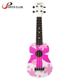 "Wholesale Nylon Strings Guitars - Wholesale-21"" Ukelele Ukulele Hawaii guitar 4 Nylon Strings with Colorful Pattern Basswood Stringed Instrument Kid's Musical Toy Gift"