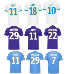 Wholesale Football Clothes - Thai quality 17 18 Maillot de foot om 2018 Marseille gomis om PAYET clothes jerseys Olympique de Marseille Purple football jerseys 2017 18