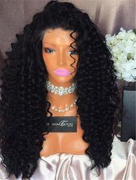 Монгольский парик онлайн-8A монгольская n Virgin Hair Loose Wave 200 Плотность кружева переднего парика Loose Curly Glueless Full Wace Hair Hair Wigs для черных женщин