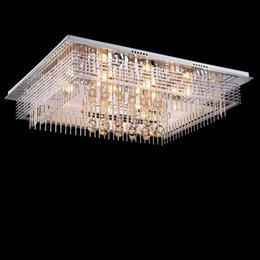 Wholesale Cristal Ceiling - new modern oval crystal chandelier luxury foyer chandeliers cristal lamp flush LED ceiling lighting