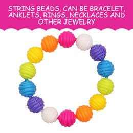 Wholesale Plastic Colored Beads - Toys and gifts puzzle and educational toys intellectual development class Variety of colored children girls string beads