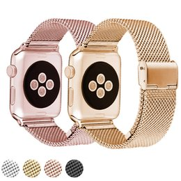 Wholesale Gold Silver Magnetic Clasps - NOTO HOT SALE 38mm   42mm Applies to Apple Watch Metal Strap AWMLMCS, Stainless Steel Magnetic Clutch Apple Watch Milano Ring