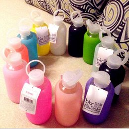Wholesale Funny Candies - Funny candy colors creative 500mL glass cups Colored jelly cup kettle Silicone Case Cover carry a water bottle Free shipping