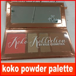 Wholesale Multi Color Highlighter - KYLIE KOKO Kollection Kyshadow Palettes Blush Highlighter Palette Kylie Jenners 4 color Eye Shadow Kit Makeup Set free shipping