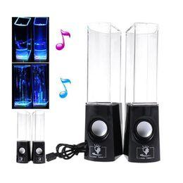Wholesale Music Fountain Speakers - Free DHL Shipping New Beautiful Dancing Water Light Mini Speaker Music Fountain speakers For PC Laptop Smart phone
