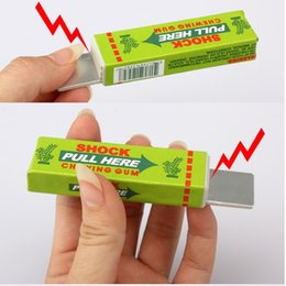 Wholesale Shock Chewing Gum Toy - Funny Safety Electric Shocking Chewing Gum Toy Shock Joke Gadget (Random Color )