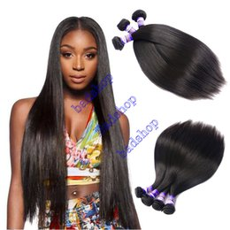 Wholesale Cheap Virgin Russian Hair - Grade 8A Brazilian Virgin Straight Hair Unprocessed Brazilian Human Hair Weave 4Pcs Cheap Brazilian Peruvian Indian Hair Straight bundles