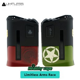 Wholesale Ecig Batteries Color - New Color Limitless Arms Race Box Mod 200W with Interchangeable Clip Sleeves Power by dual 18650 battery Vs Tesla Biturbo Ecig