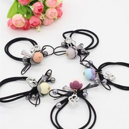 Wholesale Hair Crystals Extensions Wholesale - New style hair bands elastic alloy fashion jewelry accessories crystal tire cord tire rubber band hair rope ring imitation pearl headdress