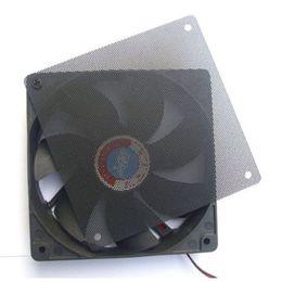 Wholesale Filter Covers - Wholesale- New 1PC 120mm Fans 4 Screws Computer PC Dustproof Cooler Fan Case Cover Dust Filter Cuttable Mesh Fits Standard
