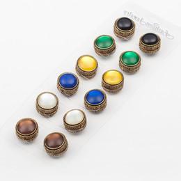 Wholesale Muslim Hijab Pins - Wholesale- 12pcs Classic vintage fix pin 3 color mix Elegant magnet brooch hijab accessories muslim scarf buckle