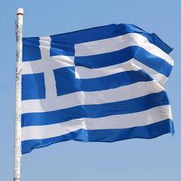 Wholesale Decorative Flag Wholesaler - 90*150cm Greece National Flag Cross Blue White Stripe Greek Outdoor Flags Mini Banner Decorative Oriflamme Flag CCA6372 150pcs