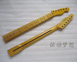 Wholesale Maple Neck Yellow - 1 PCS The electric guitar neck handles Maple fingerboard 21 items The light yellow paint