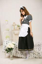 Wholesale Umi Sonoda - Real Photo 2017 Black Short Sleeve LoveLive! Minami Kotori Cosplay Costume Halloween Sonoda Umi Maid Uniform Lolita Dresses