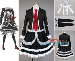 Wholesale Celestia Ludenberg Cosplay - Dangan Ronpa Danganronpa Celestia Ludenberg Uniform Long Sleeve Top Short Dress Anime Halloween Cosplay Costume