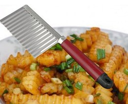 edelstahl kartoffel-aktenvernichter Rabatt Küche Multifunktionale edelstahl welle messer kartoffel geschnitten shredder 6 * 22 cm sichere gemüse slicer obst dekoration werkzeug