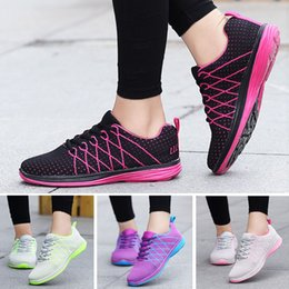Wholesale Gingham Style - Sneakers woman 2017 spring new fashion flat with Breathable running shoes women shoes style mesh women casual shoes