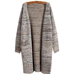 Wholesale Korean Shirt Knitting Pocket - Wholesale-Korean version cardigan women sweater coat long loose pocket wild knit shirt sweaters jacket clothing vestidos MMY257