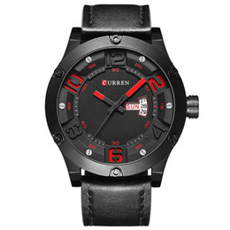 Wholesale Curren Leather - 2017 CURREN Watch Men Watches Top Brand Luxury Famous Male Clock Men Quartz Watch Wrist Hodinky Quartz-Watch Relogio Masculino