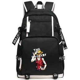 Wholesale One Piece School Bag - One piece backpack Monkey D luffy daypack Sailing king schoolbag Anime rucksack Sport school bag Outdoor day pack