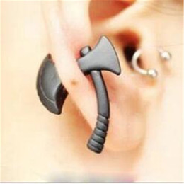 Wholesale Cool Womens Rings - Fashion Jewelry Stud Earrings Charm Gift Earing Punk Cool Hatchet for Mens Womens Stud Earring Piercing Jewelry Harajuku 3D Axe Ear Ring