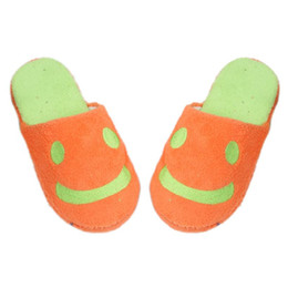 Wholesale Anne Blue - Wholesale-2016 New Designed Lovely Smile Home Floor Soft Stripe Slippers Female Shoes Anne
