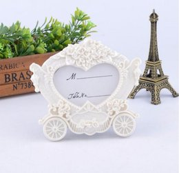 Wholesale White Carriage Frame - Ywbeyond Resin Pumpkin Carriage Photo Frame photo holder Indian Wedding Return Gifts Souvenirs guests 100pcs wholesale