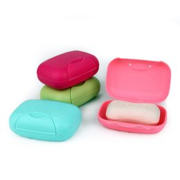 Чехол-чехол ручной работы онлайн-Wholesale- new arrival 4 colors travel handmade soap box soap case dishes waterproof leakproof soap box with lock box cover wholesale