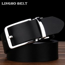 Wholesale Dual Jeans - Wholesale- 2017 New Fashion Real Leather mens Belt two color Dual-use designer belt men luxury Casual jeans belts for men Yd23