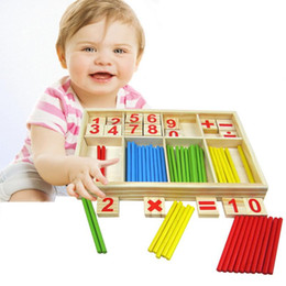 Wholesale Montessori Educational - Baby Toy Wooden Blocks Montessori Educational Toys Mathematical Intelligence Stick Building Blocks gift