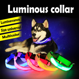 Wholesale Dog Ring Toy - Dog Collar Flashing Pet Night Safety Led Dog Collar Luminous Light Collars for Teddy Golden Retriever Large Small Dogs Cats Neck Ring